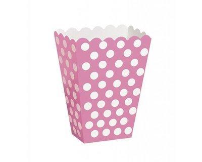 Pink Popcorn Box 8 x