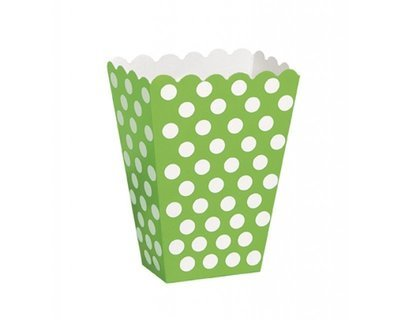 Green  Popcorn Box 8 x
