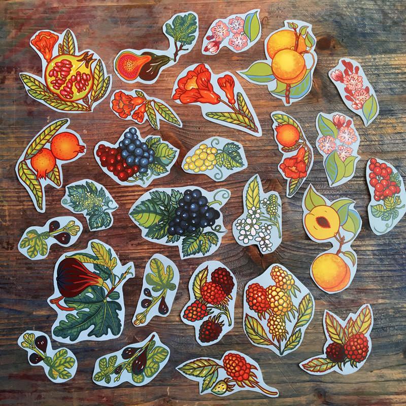 Big Fruit&Berries stickers set of 27