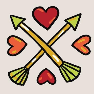 Spread the love tattoo - set of 2