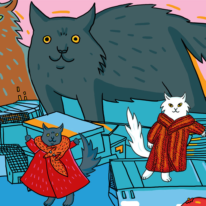 Katzen Anziehpuppen