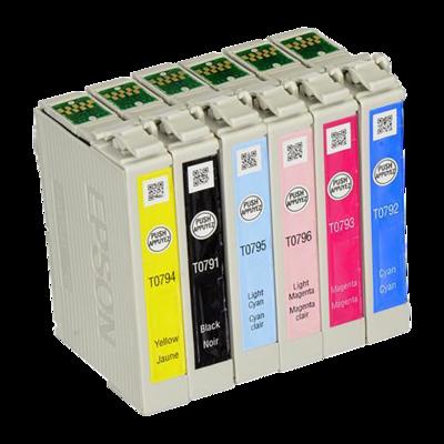 All Black Dye Ink Cartridges, Epson 1400/1430 (Set of 6)
