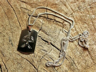 Indalo dog tag necklace ~ sterling silver, duo