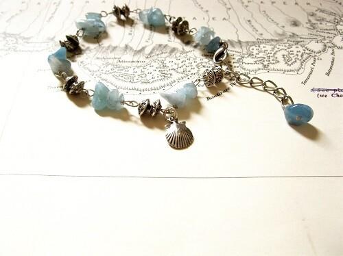 Camino travel bracelet ~ aquamarine