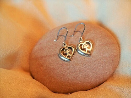Indalo earrings ~ heart, silver