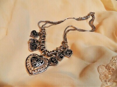 All my heart charm necklace