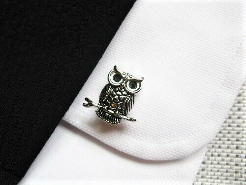 Guardian owl cufflinks said to ward off misfortune