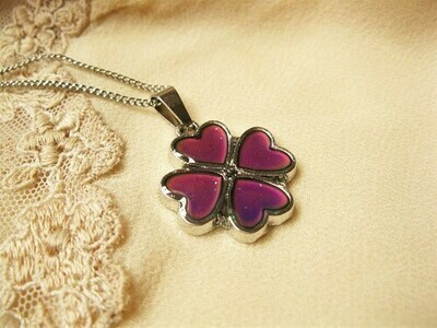 Lucky clover mood change necklace to say Trust Yourself