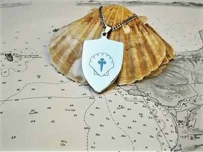 sAfe Jewellery - Travellers Shield necklace for safekeeping ~ extra large