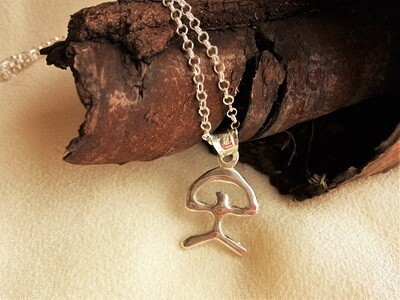 Indalo protector necklace ~ modern, 25mm, silver