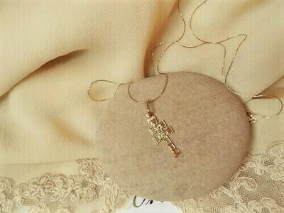 Caravaca Cross necklace ~ 18ct Gold, small