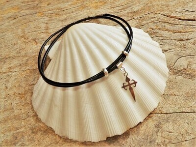 Cruz de Santiago / Cross of St James bracelet ~ wraparound