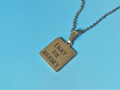 Enjoy the Journey - Travellers dog tag with shell