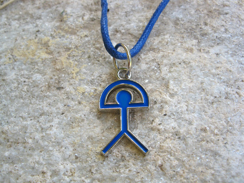 Indalo charm necklace ~ electric blue