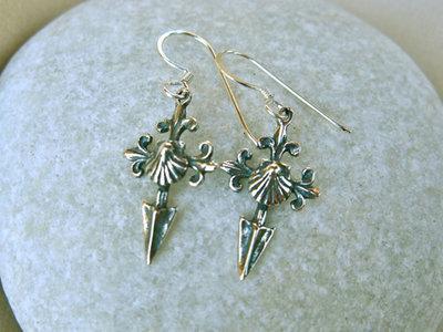Saint James cross Camino earrings ~ ideal safe travel gift