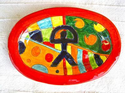 Spanish ceramic platter ~ Indalo, formas