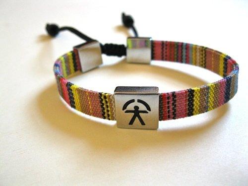 Indalo bracelet ~  woven patterned adjustable strap 2