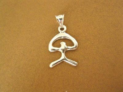 Indalo pendant ~ modern, 25mm, silver