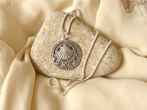 Way of St James Santiago necklace ~ filigree