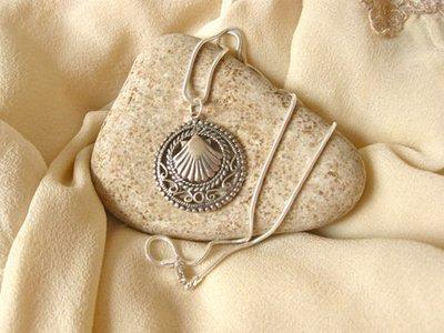 Way of St James Santiago necklace ~ filigree