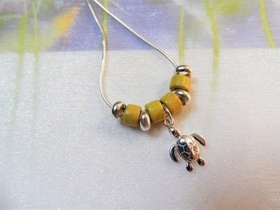 Lucky turtle necklace to say Take it Easy, Chill