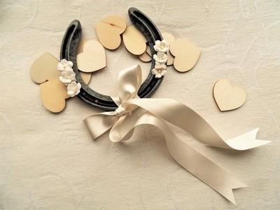 Lucky horseshoe for wedding gift