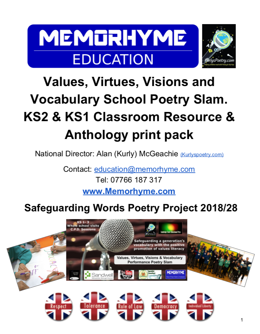 Values, Virtues, Visions & Vocabulary Teachers' Classroom & Video Resources  for KS2 & KS1. Limited time introduction discount