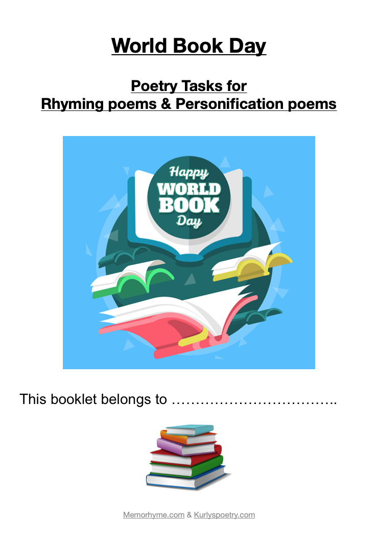 World Book Day Poetry Booklet - for Key Stage 2