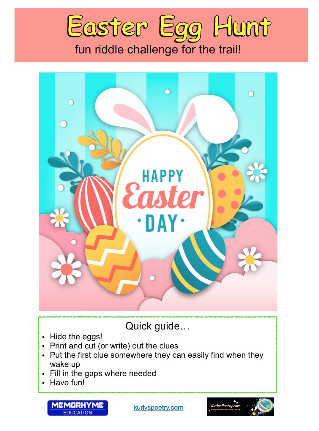Easter Egg Hunt - Poetry Challenge Trial