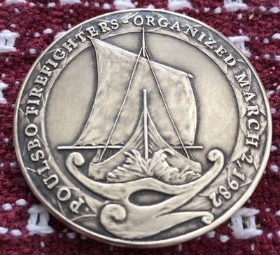 2018 Poulsbo Challenge Coin - Brass (Antiqued)