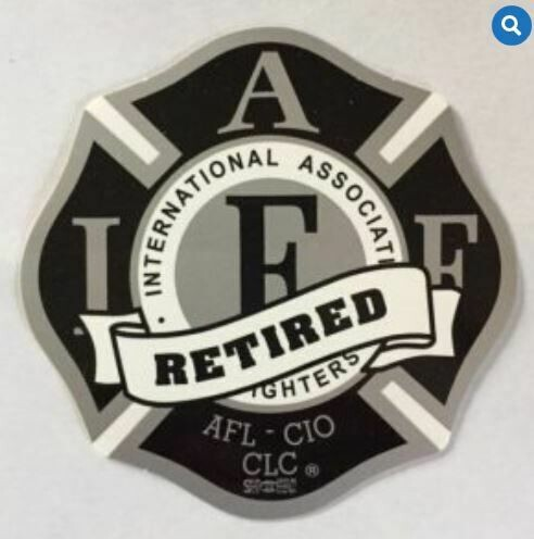 IAFF Black & Silver Retired Vehicle Sticker
