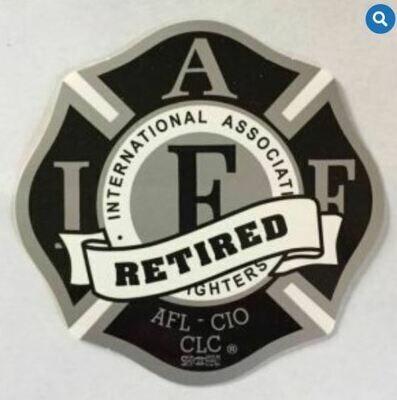 IAFF Black & Silver Retired Vehicle Sticker