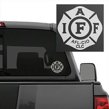IAFF Frosted Die-Cut Maltese Vehicle Decal