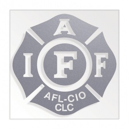 IAFF Solid Silver Die-Cut Maltese Vehicle Decal