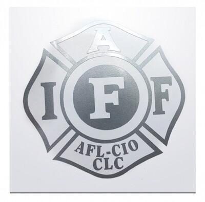 IAFF Silver Die-Cut Maltese Vehicle Decal