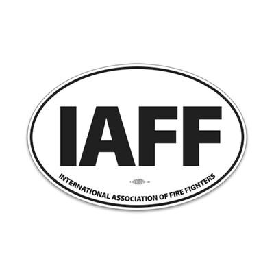 IAFF Oval Decal 4