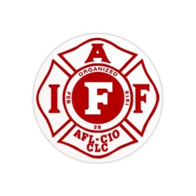 Helmet Sticker IAFF White/Red