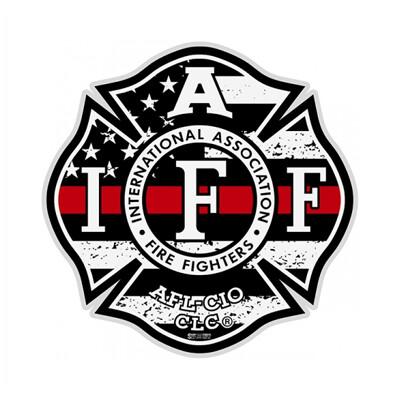 Helmet Sticker IAFF Thin Red Line (Reflective)