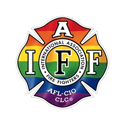 Helmet Sticker IAFF Rainbow (Reflective)