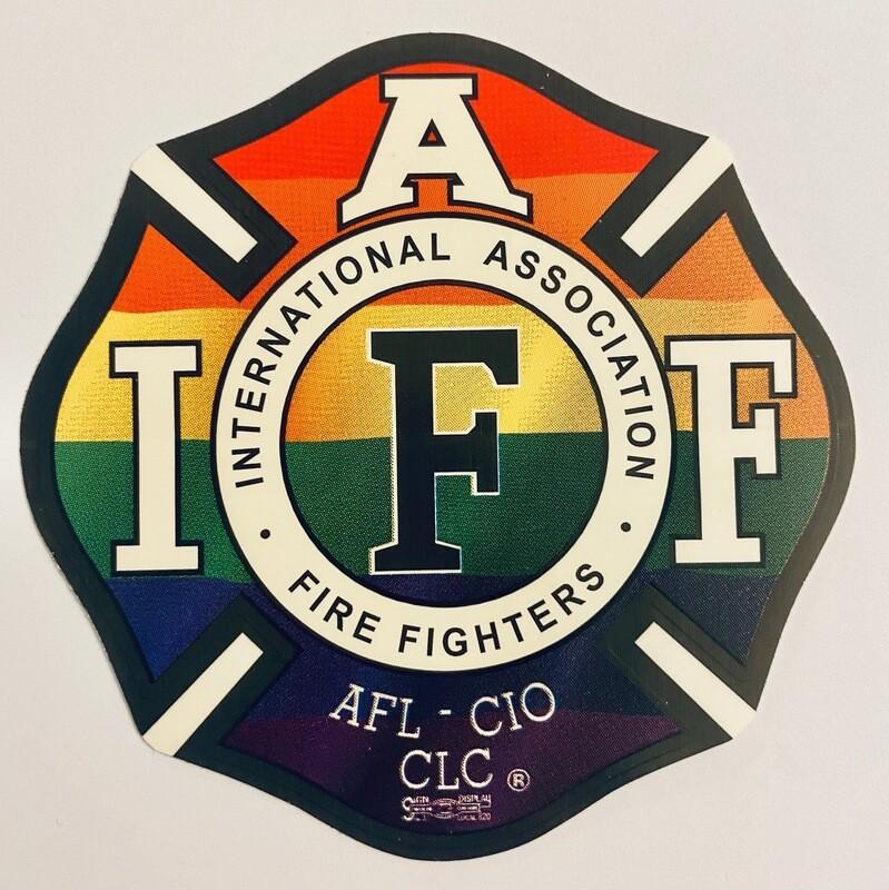 Vehicle Sticker IAFF Rainbow