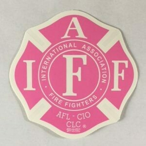 Vehicle Sticker IAFF Pink