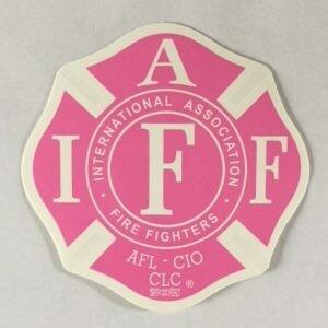 Vehicle Sticker IAFF Pink
