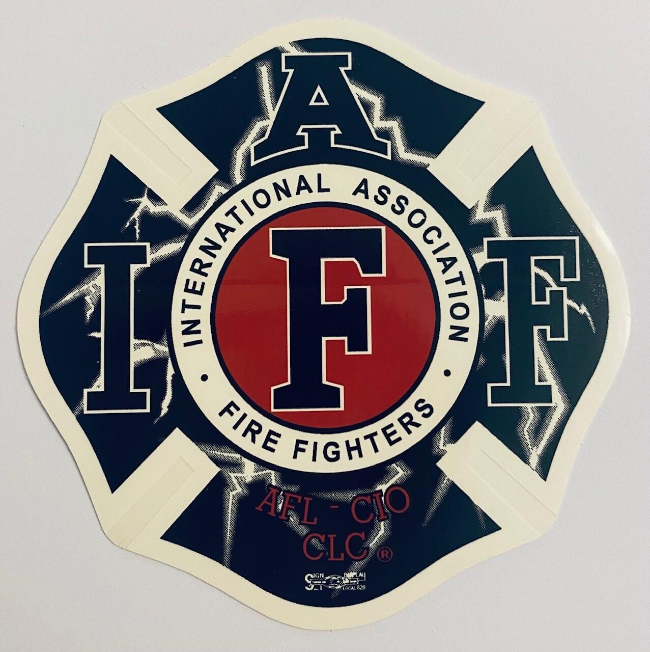 Vehicle Sticker IAFF Lightning
