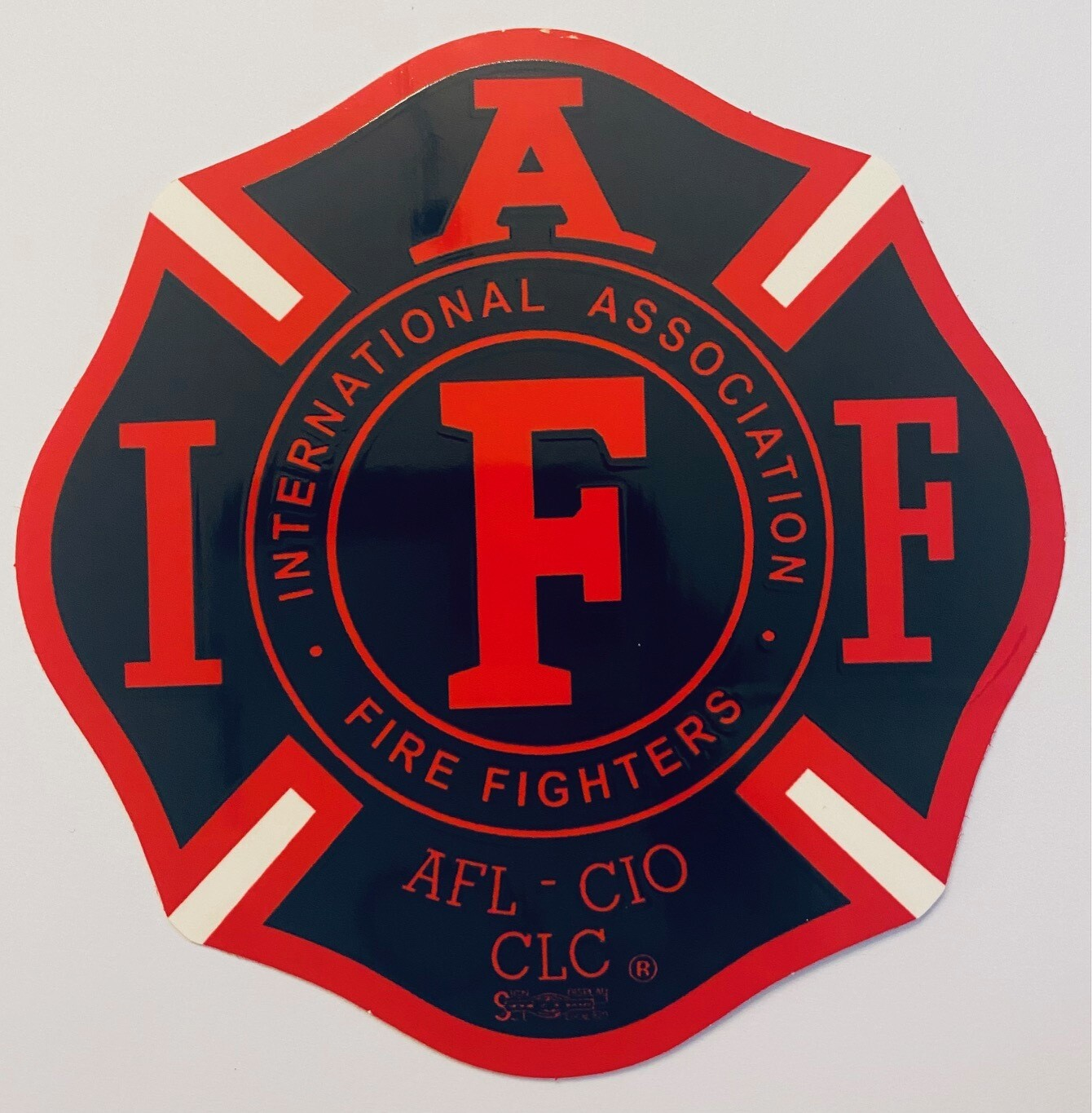 Vehicle Sticker IAFF Black & Red