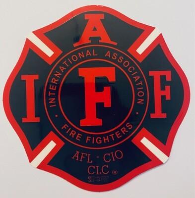 Vehicle Sticker IAFF Black & Red