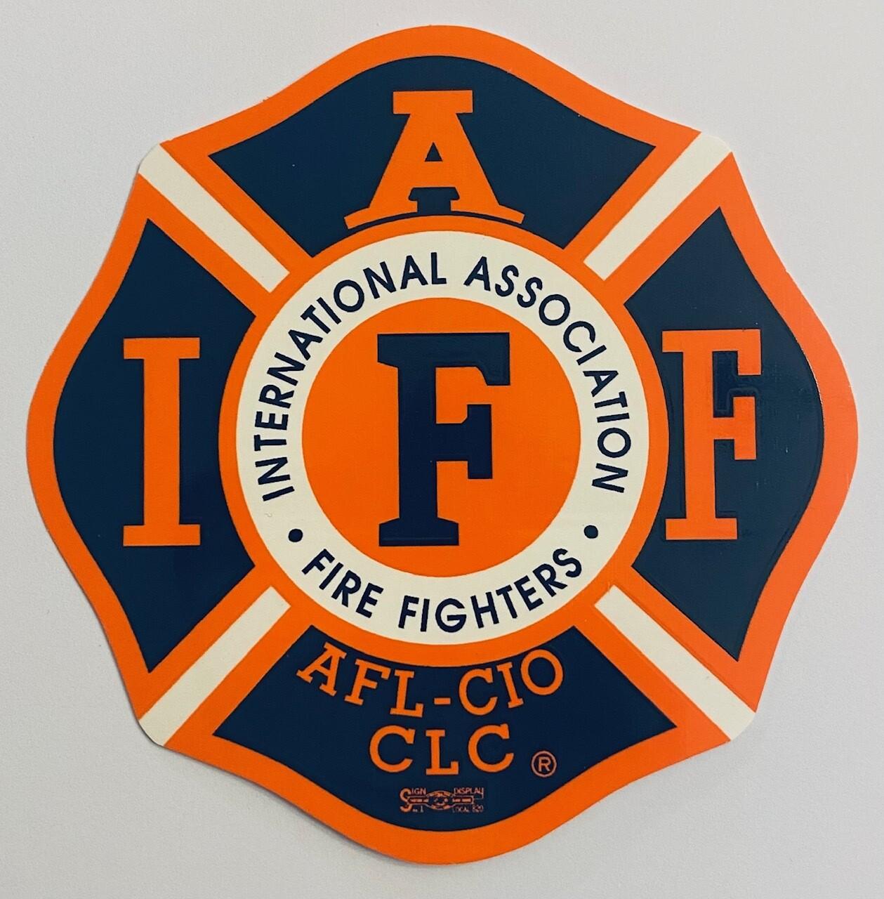 Vehicle Sticker IAFF Navy & Orange