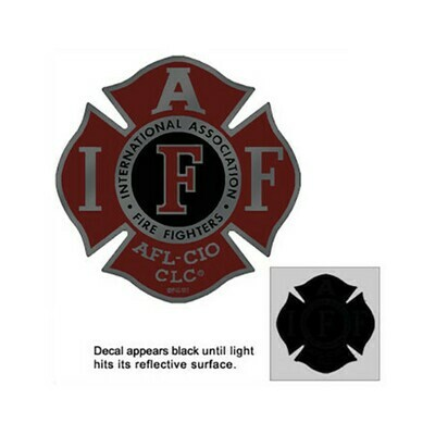 Helmet Sticker IAFF Red/Black Maltese (Reflective)