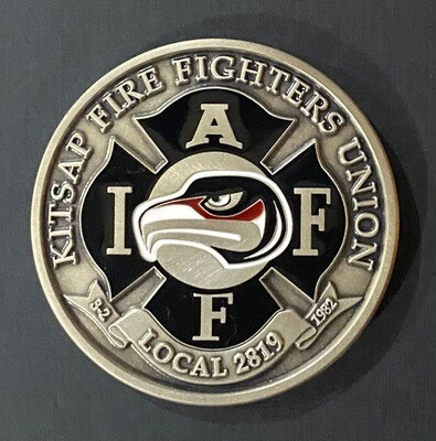 IAFF 2819 Nickel-Silver Challenge Coin