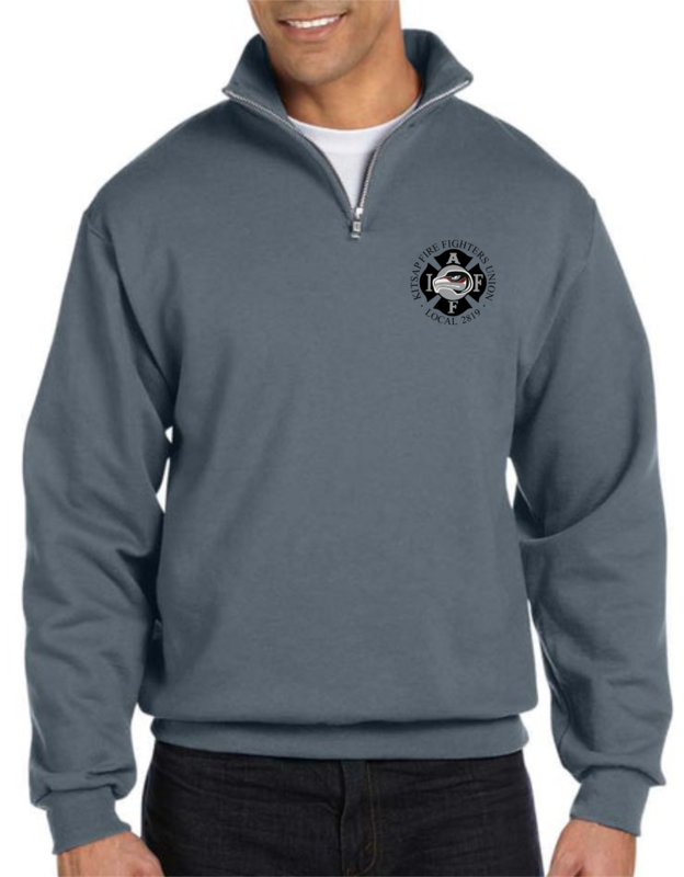 Quarter-Zip Pullover Sweatshirt with Embroidered Union Logo (Pre-Order)