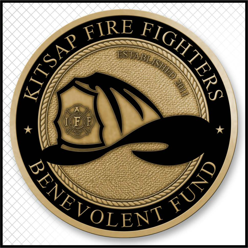 Kitsap Fire Fighters B-Fund Challenge Coin - Brass (Pre-Order)